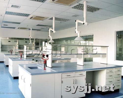 实验室家具提供生产钢木结构中央实验台(带水)厂家