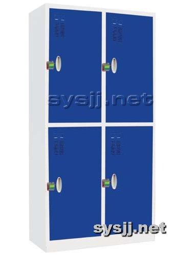 实验室家具提供生产四门套色更衣柜厂家