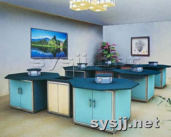 实验室家具提供生产钢木八角实验台厂家